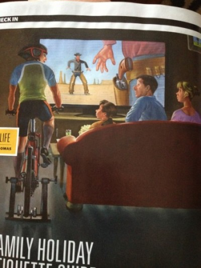 The illustration for a Family Holiday story in a recent issue of Triathlete
