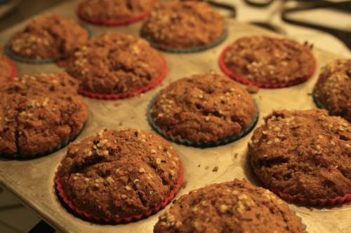 Pumpkin Muffins topped with Hemp Hearts | Lean Green Island Girl