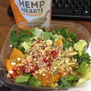 Hemp Hearts on a salad