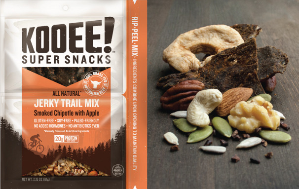 Kooee! Jerky Trail Mix Smoked Chipotle with Apple
