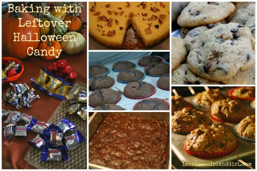 Baking w Halloween Candy