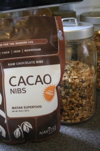 Granola with cacao nibs