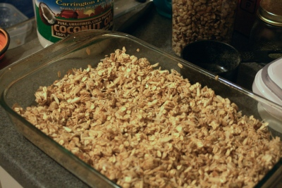 Granola, ready for the oven